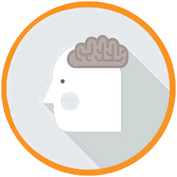 icon of head and brain