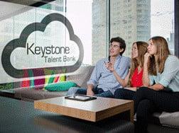 people viewing keystone talent bank logo
